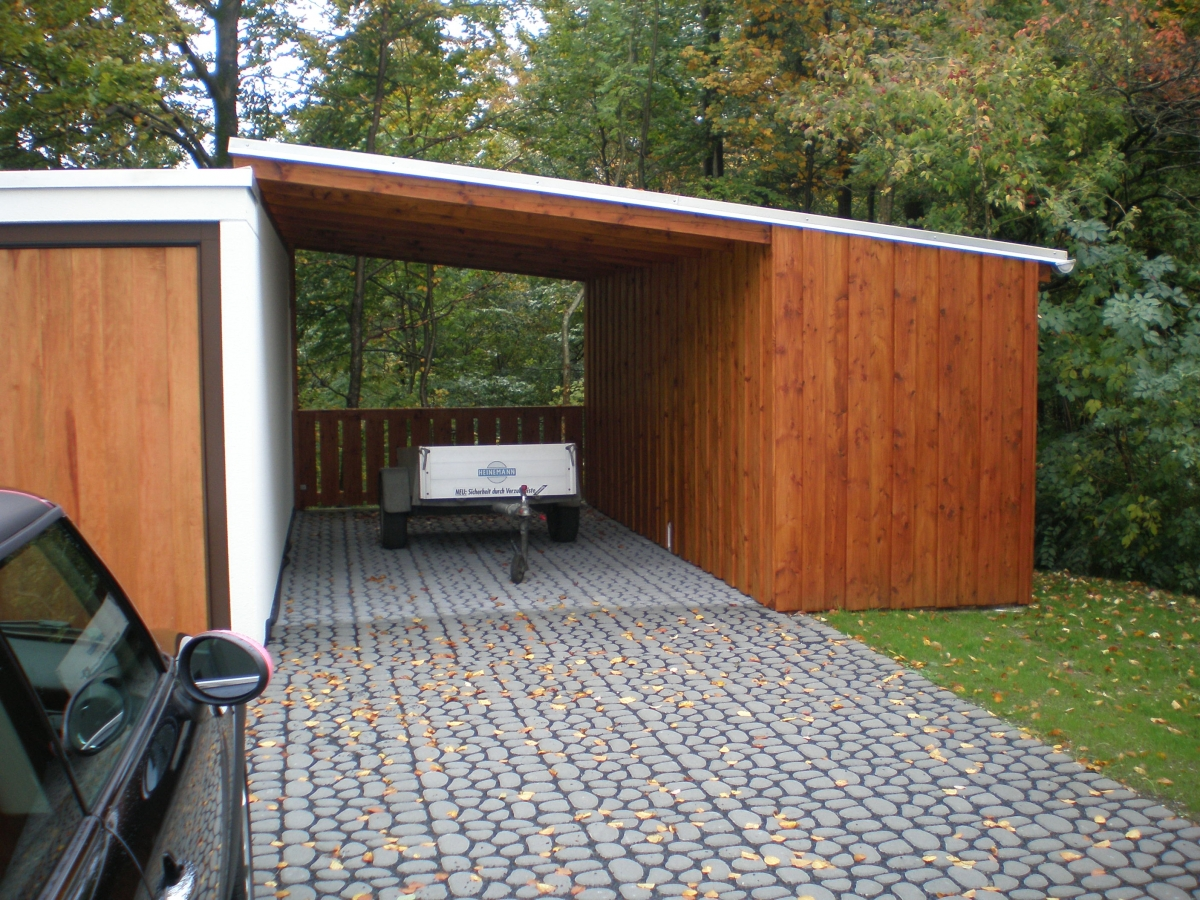 carport mit gartenhaus cg34 hitoiro. Black Bedroom Furniture Sets. Home Design Ideas